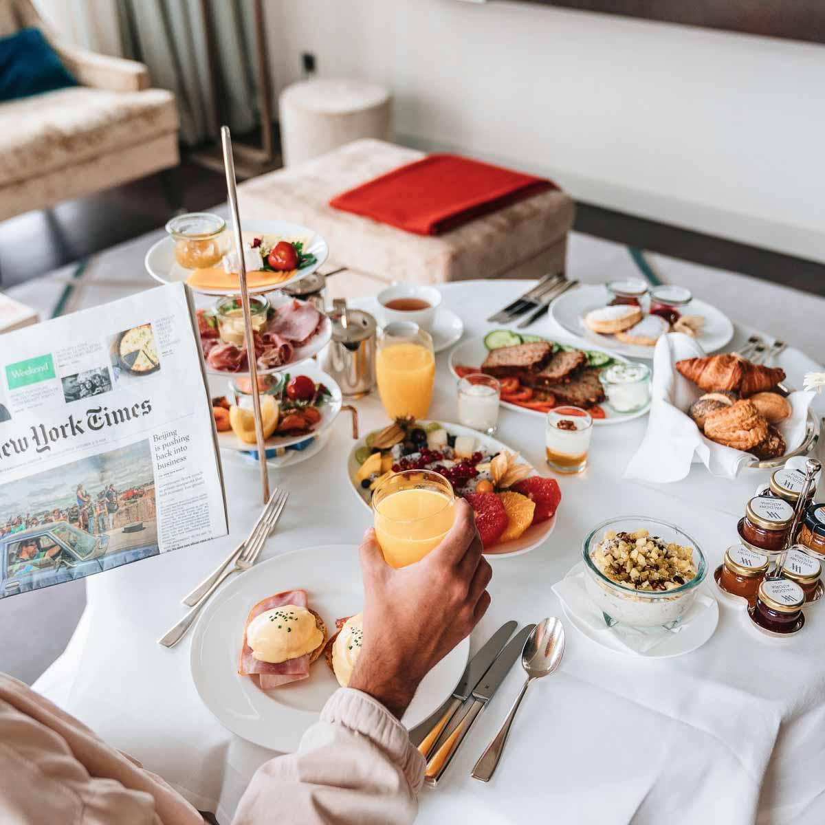 Luxus Hotel Waldorf Astoria Berlin Frühstück
