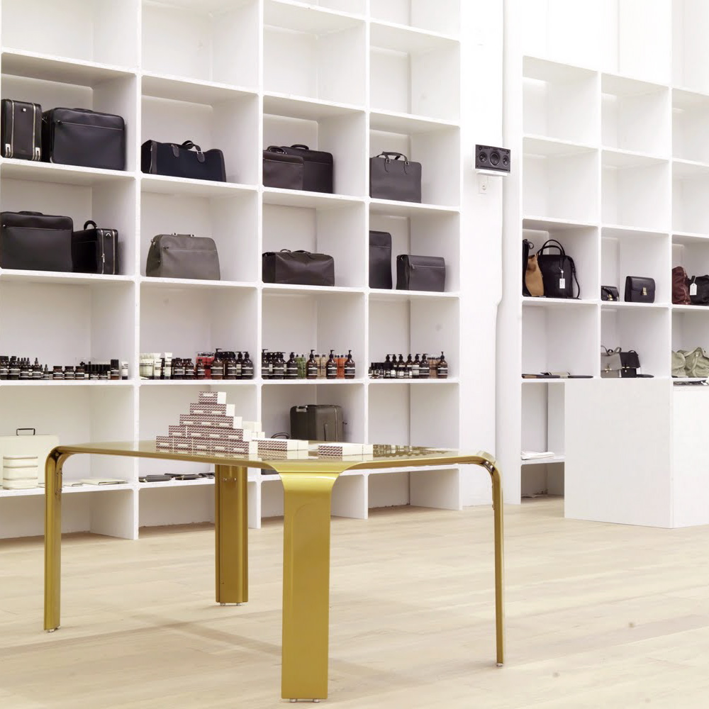 andreas murkudis concept store berlin creme guides. Black Bedroom Furniture Sets. Home Design Ideas
