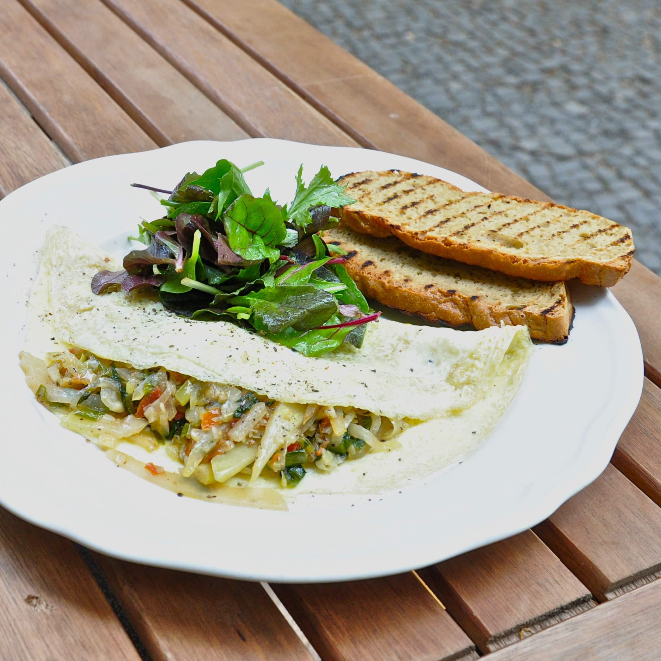Sauvage-Berlin-Paleo-Restaurant-Fruehstueck-Omlette-Gemuese