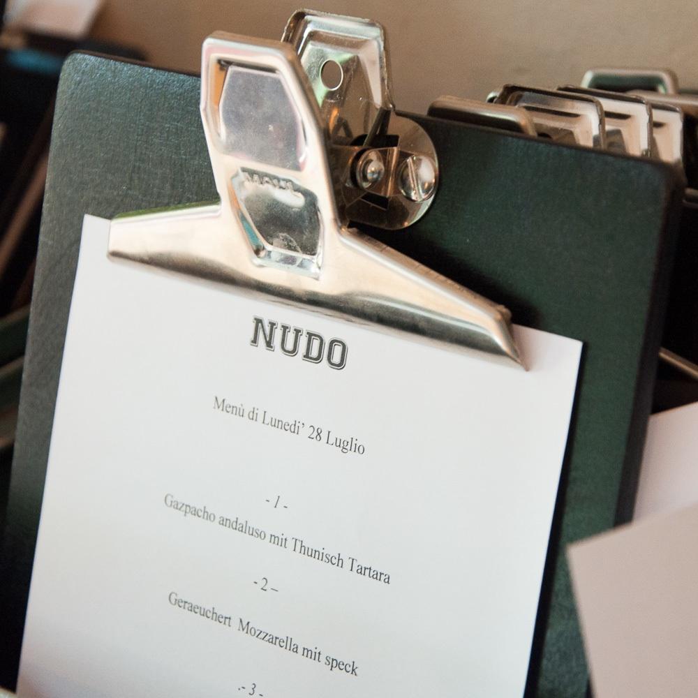 Nudo italienisches Restaurant Kreuzberg Lausitzer Platz Karte