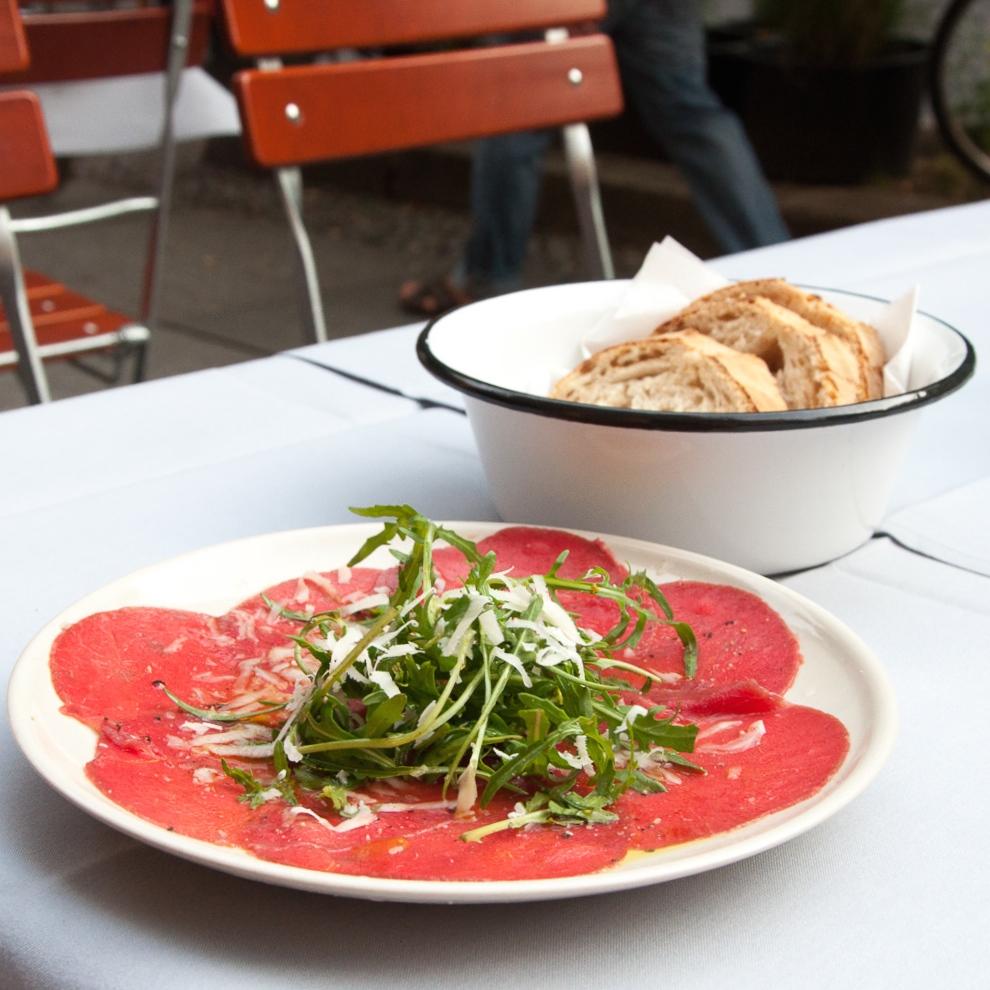 Nudo italienisches Restaurant Kreuzberg Lausitzer Platz Carpaccio