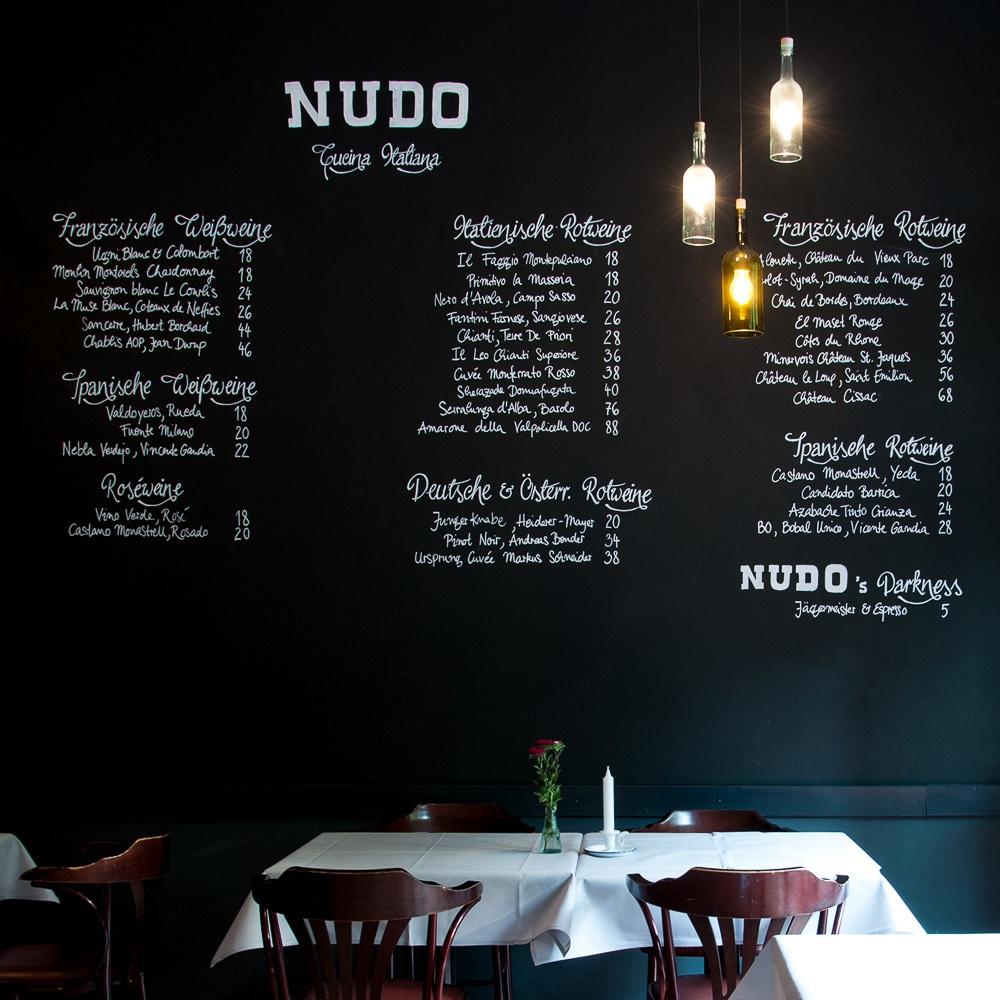 Nudo italienisches Restaurant Kreuzberg Lausitzer Platz Speisekarte