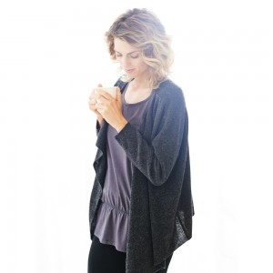 Wellicious-Yoga-Pilates Kleidung-Strickjacke
