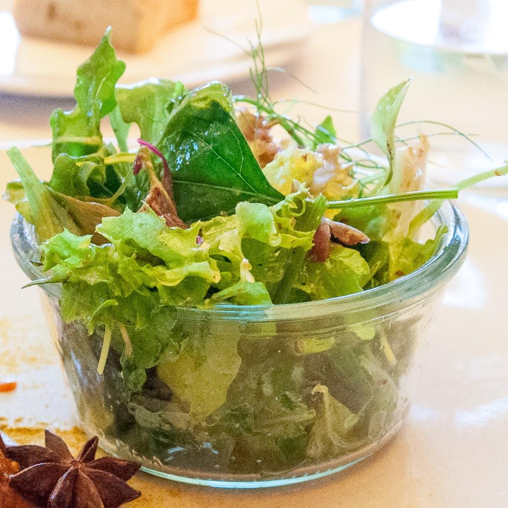 Fillet of Soul Restaurant Dammtorhallen Hamburg Salat