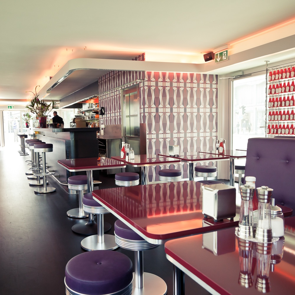 Helvti Diner Burger Zürich Interieur