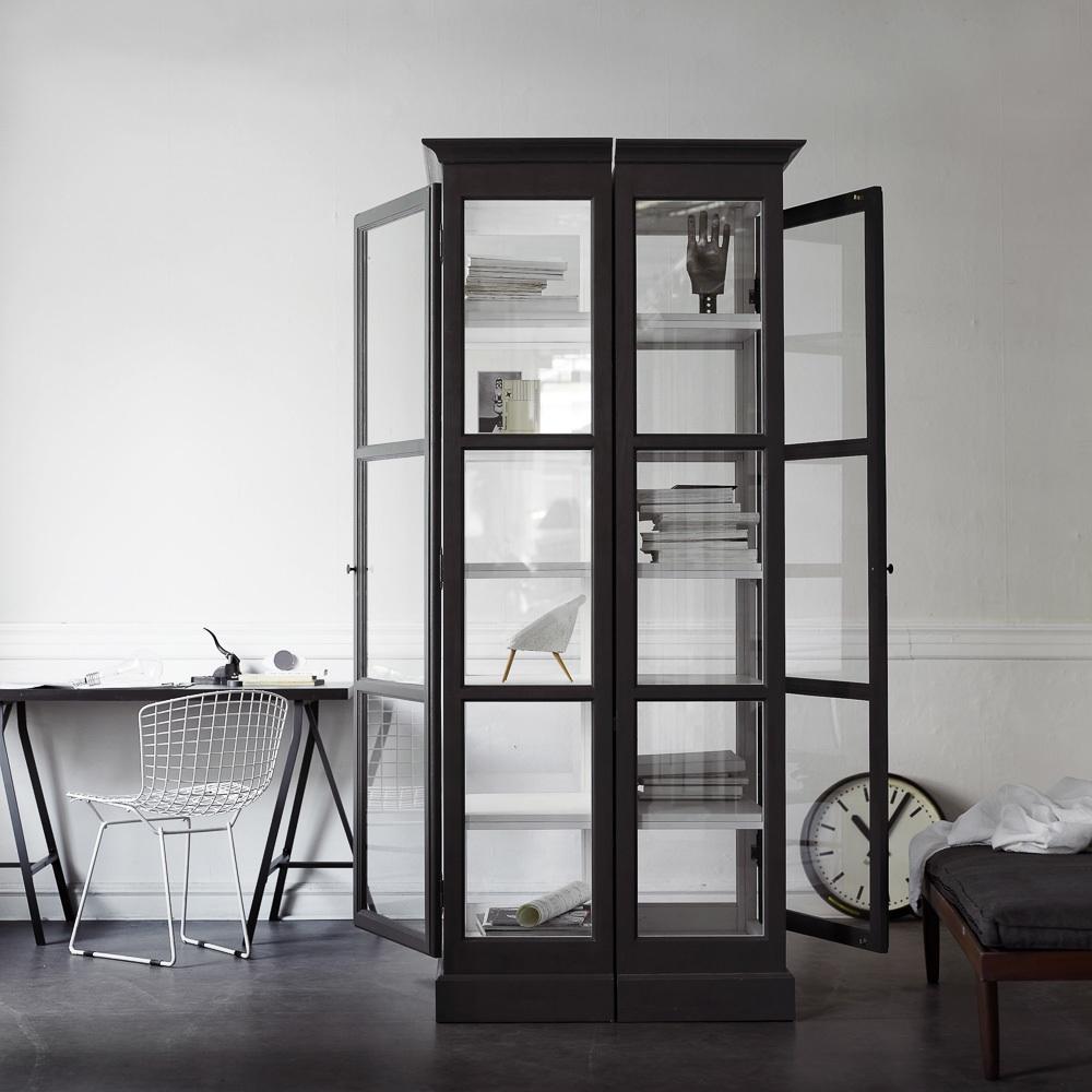 Lindebjerg Design Glas Vitinen Schränke schwarz