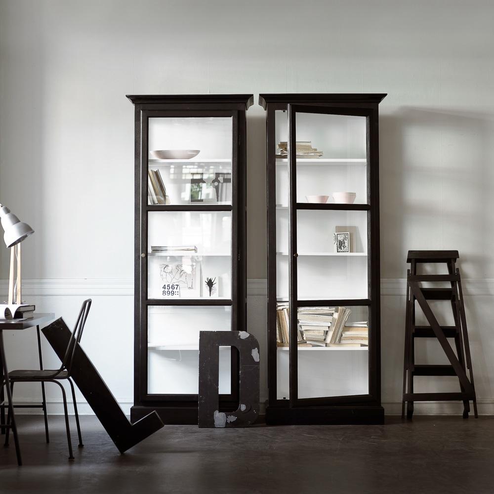 Lindebjerg Design Glas Vitinen Schränke schwarz doppelt