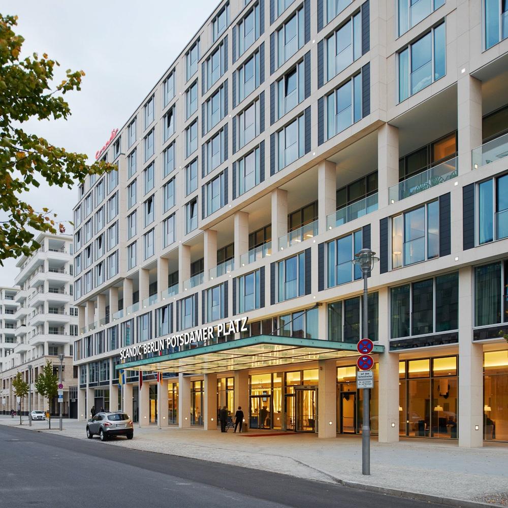 Scandic Berlin Potsdamer Platz Hotel Außenansicht