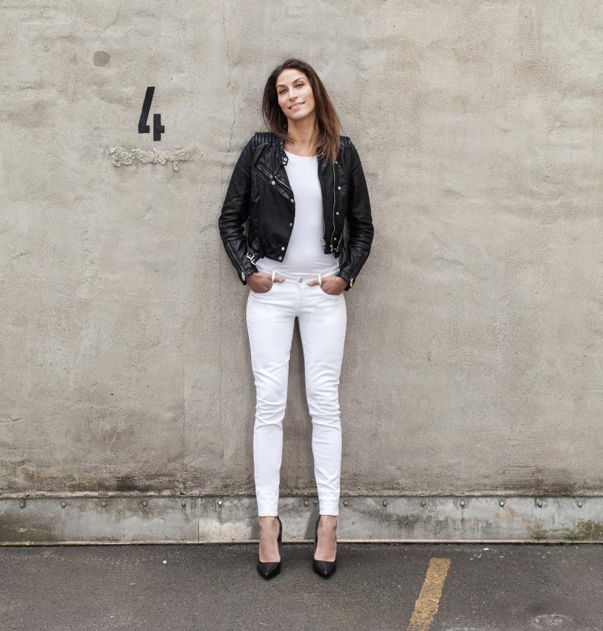Weiße Jeans von Selfnation