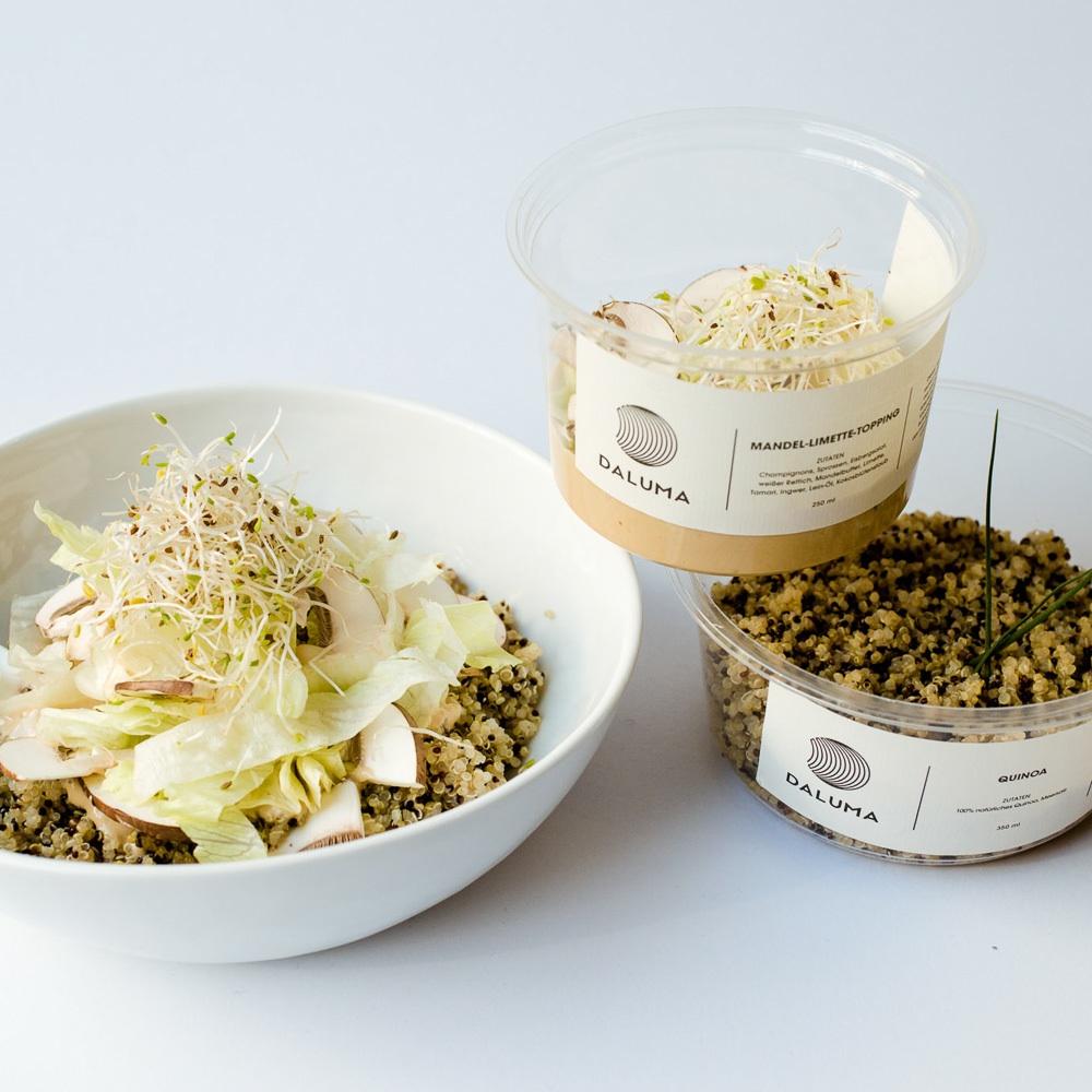 Daluma vegane Snacks Rosenthaler Platz Mitte Quinoa mit Toppings