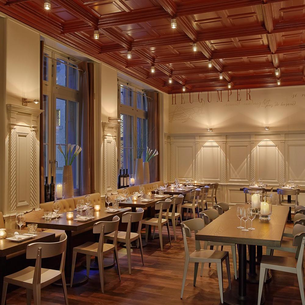 Heuguemper Restaurant Zürich Altstadt Gastraum