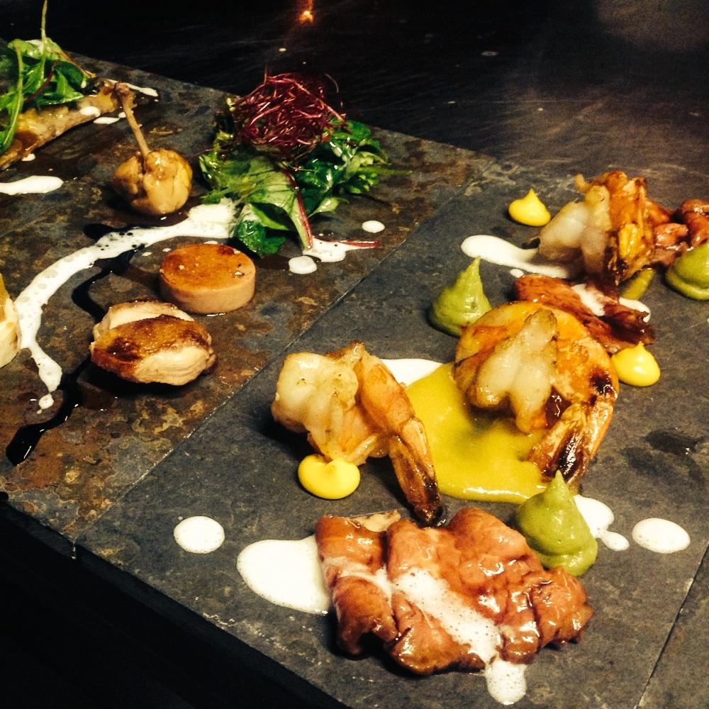 Lila Nashorn Restaurant Hamburg Ottensen Garnelen