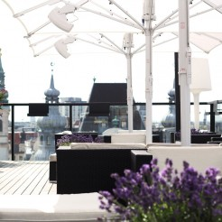 Bloom Dachterrasse Cafe Bar Wien Ausblick