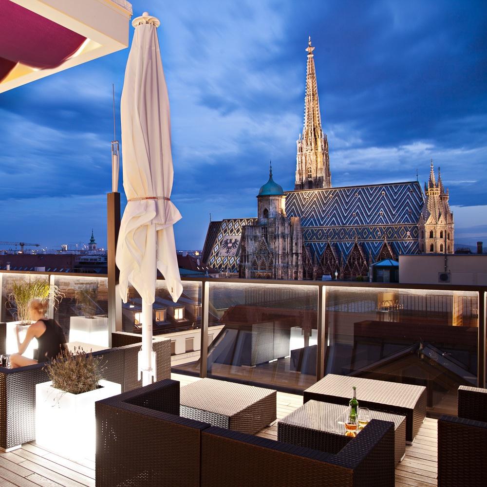 Bloom Dachterrasse Cafe Bar Wien Außenbereich