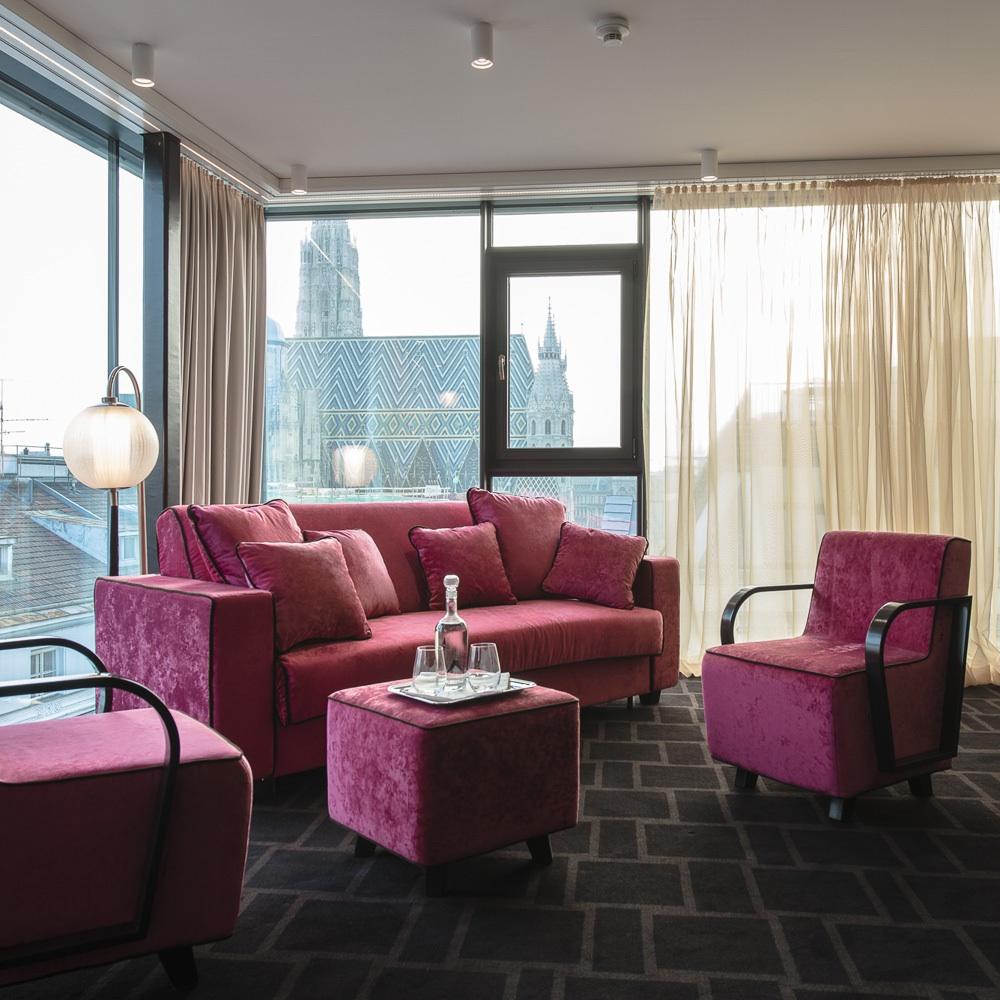 Lamee Hotel Wien Zentrum Wohnbereich