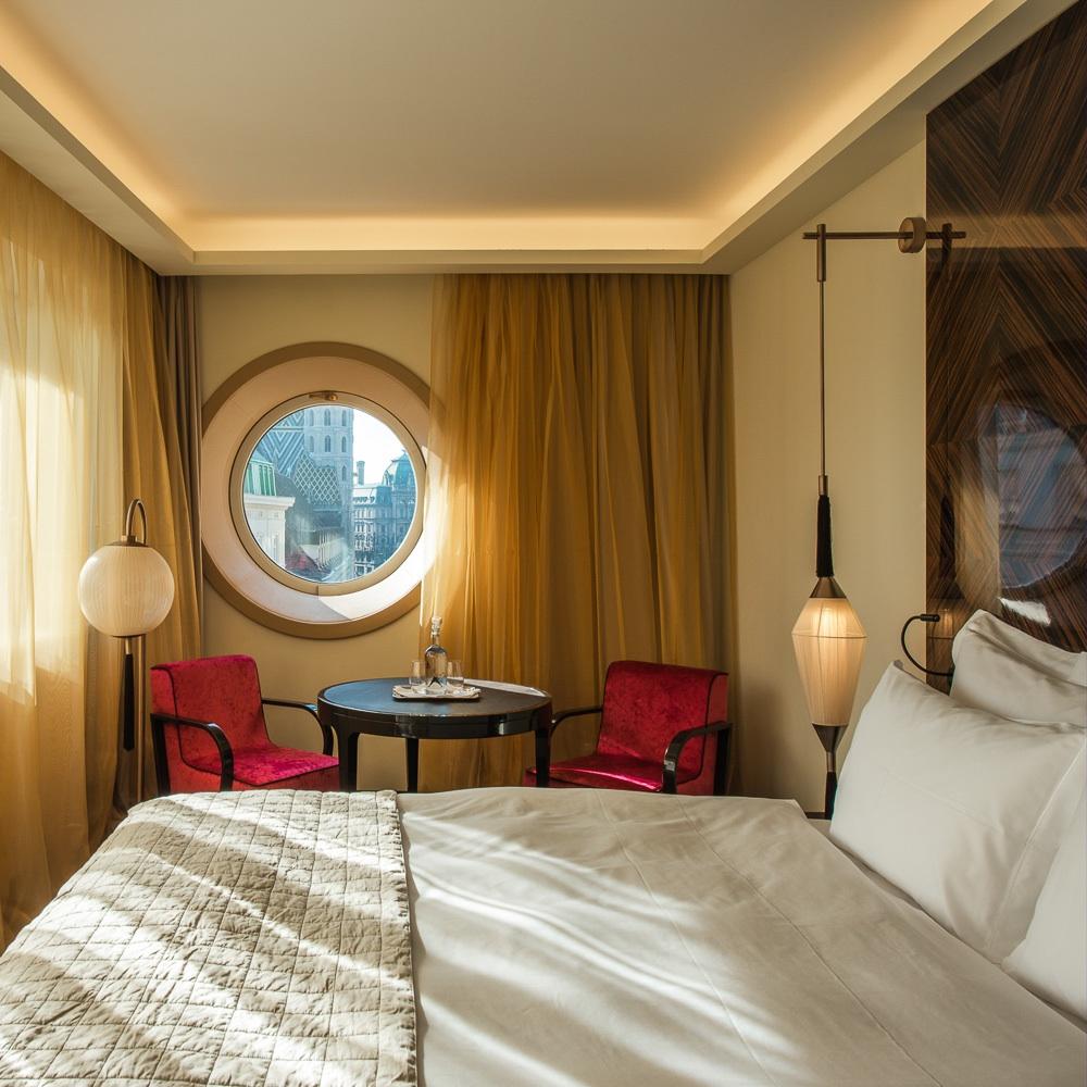 Lamee Hotel Wien Zentrum Zimmer mit Doppelbett
