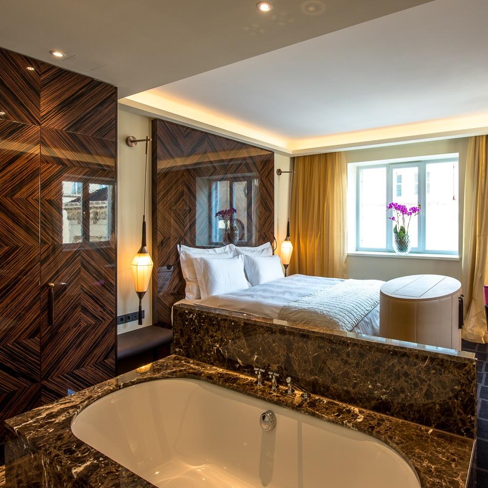 Lamee Hotel Wien Zentrum Badewanne