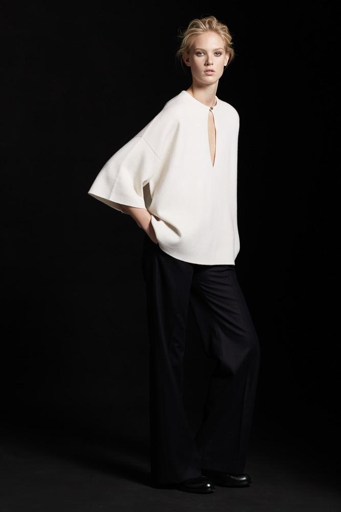 Parenti's Cashmere weißer Pullover mit Ausschnitt