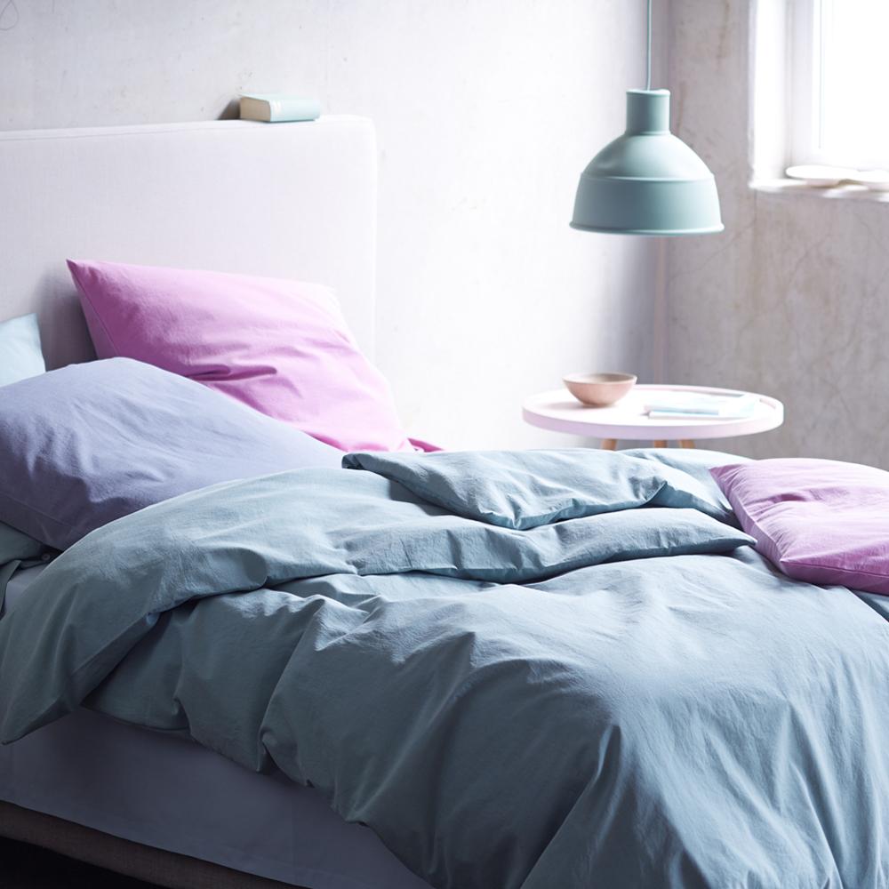 Stoffkontor Bettwäsche Kollektion 2015 rosa und blau