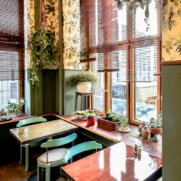 House of Small Wonder Café Berlin New York Interior
