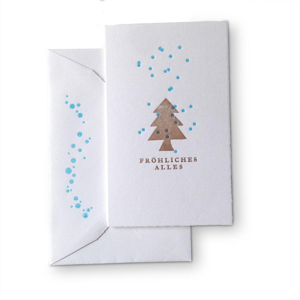 Spreeatelier Fröhliches Alles Weihnachtskarte