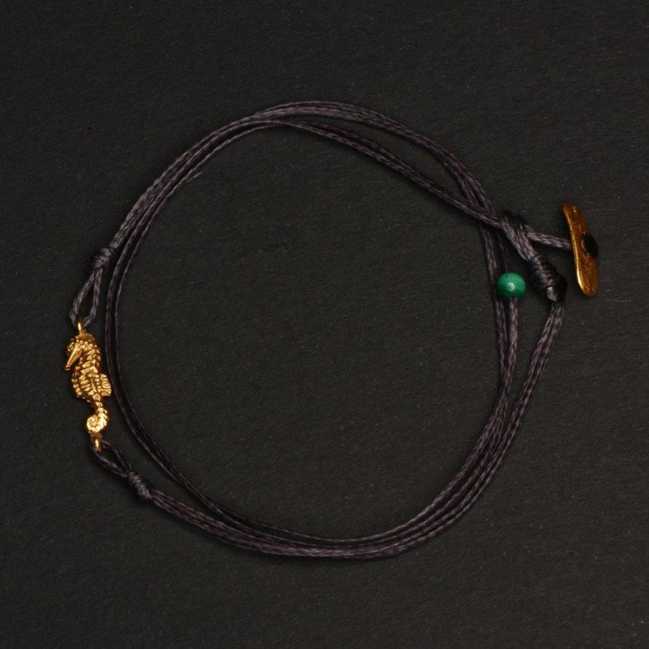 Y Ly Schmuck Zürich schwarzes Armband mit Anhänger