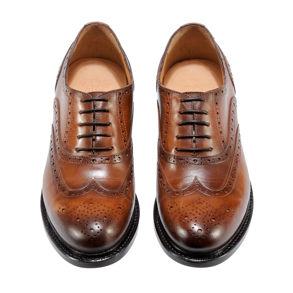 Benci Brothers Zürich Schuhe Schnürschuhe aus braunem Leder