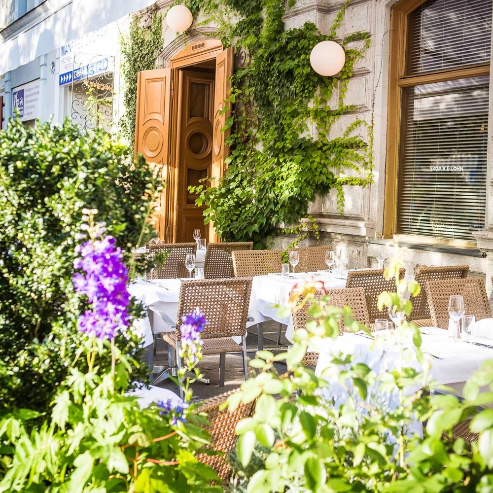 Skopik und Lohn Restaurant Wien Außenbereich