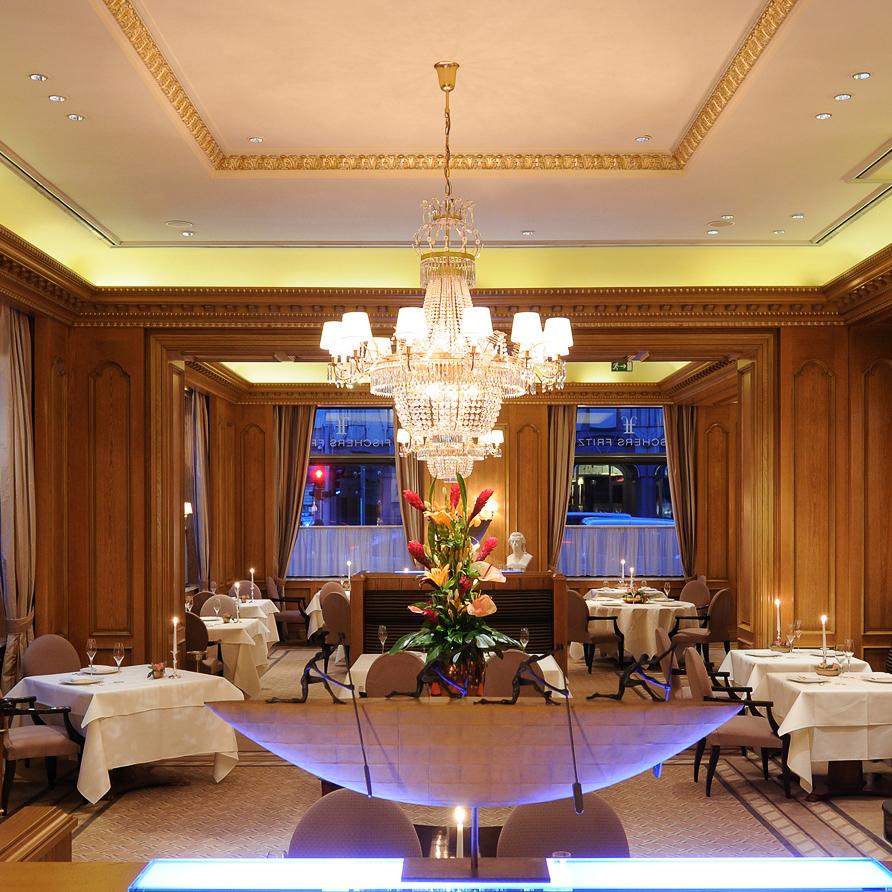 Fischers Fritz Restaurant Michelin Stern Berlin Einrichtung
