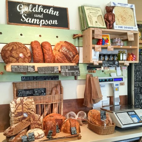 Goldhahn und Sampson Feinkost Kochbücher Berlin Brot
