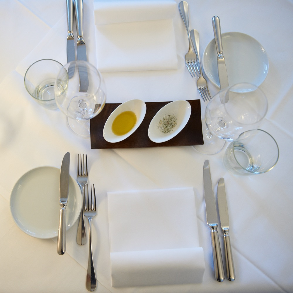 Jdaburg Restaurant Zürich gedeckter Tisch