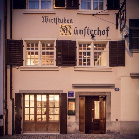 Münsterhof Restaurant Zürich Außenansicht