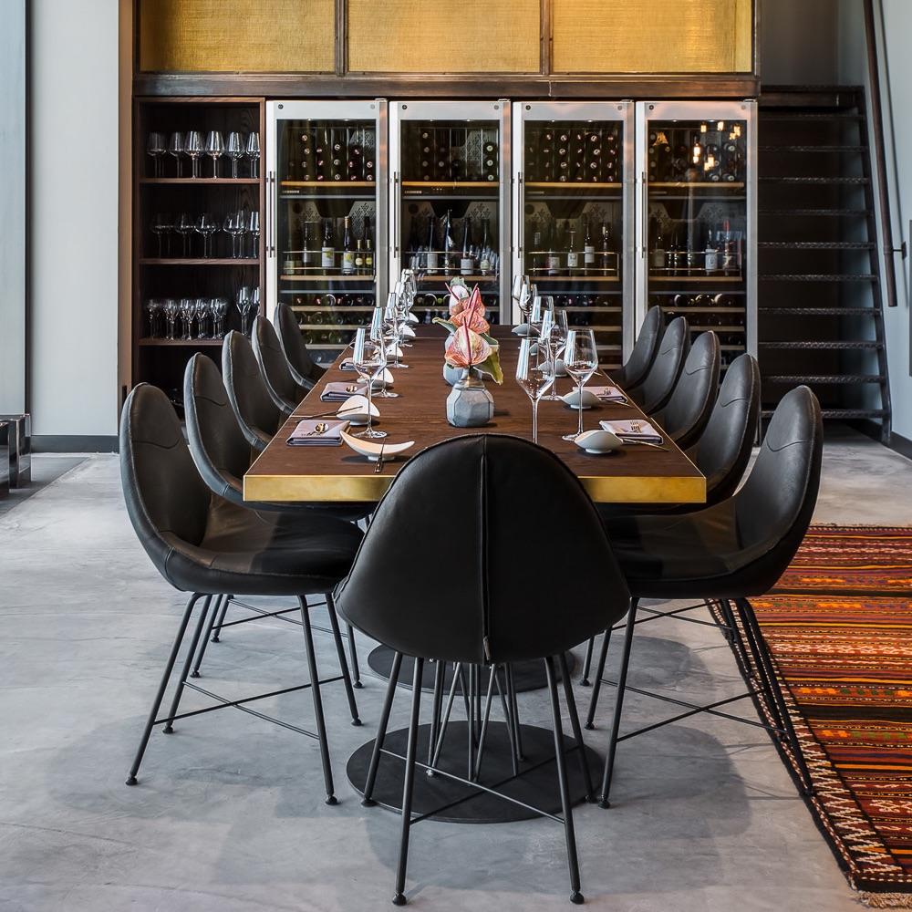 Skykitchen Restaurant Andels Berlin gedeckter Tisch