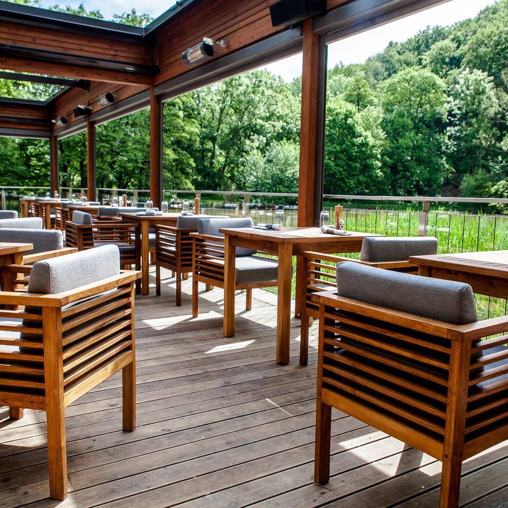 Klee Restaurant Terrasse am See Ausblick
