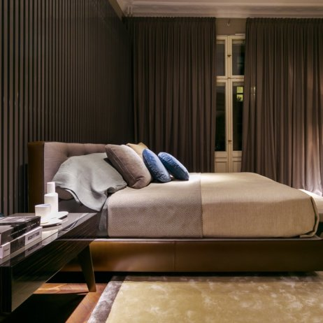 Minotti Showroom Berlin Sofa Sessel Bett Schlafzimmer