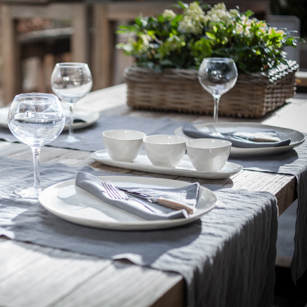 The Linen Company Leinen Wäsche Tischdekoration