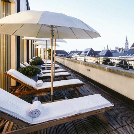 Bayerischer Hof Luxushotel München Dachterrasse