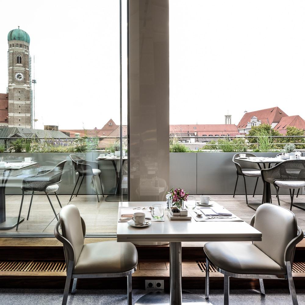 Bayerischer Hof Luxushotel München Dachgarten