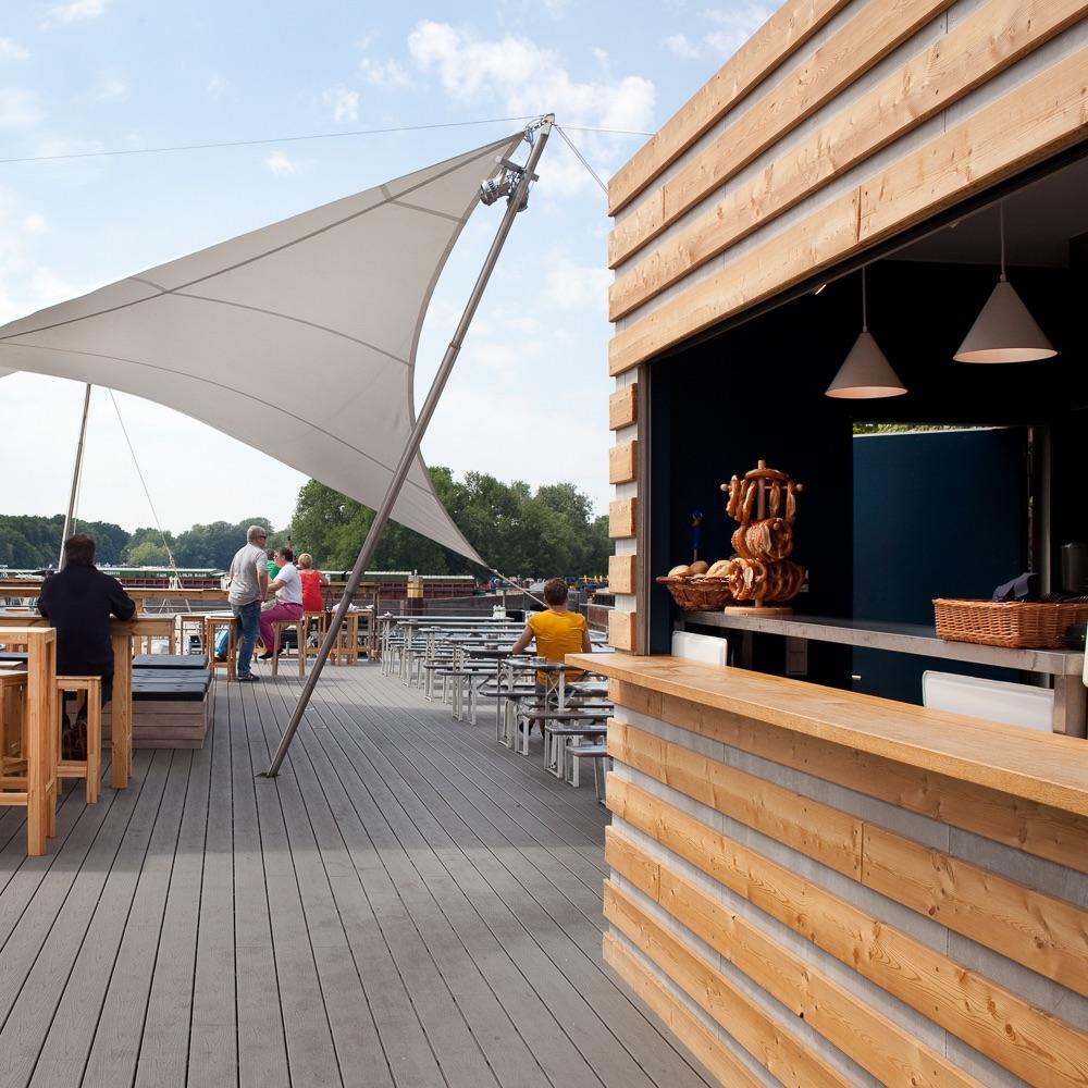 Hafenküche Hafenkante Biergarten Rummelsburg Sonnendeck
