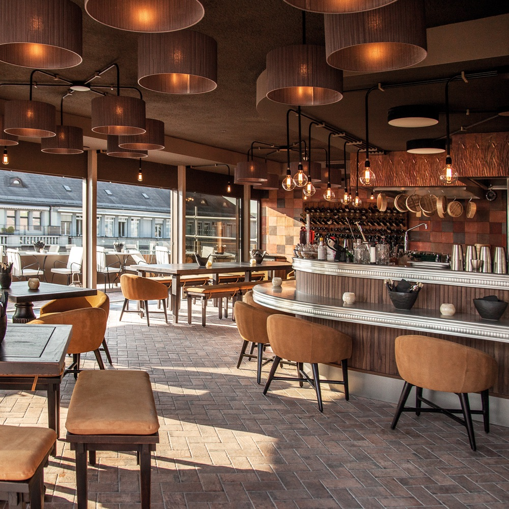Rooftop Restaurant Zürich Interieur