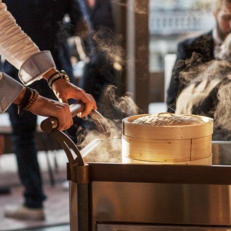 Rooftop Restaurant Zürich Dampf gegarte Speisen