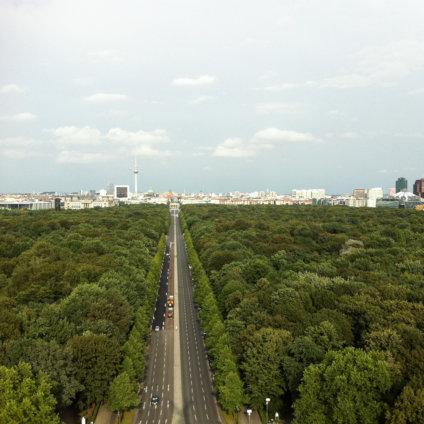 Tiergarten Berlin Mitte Blick von Siegessäule