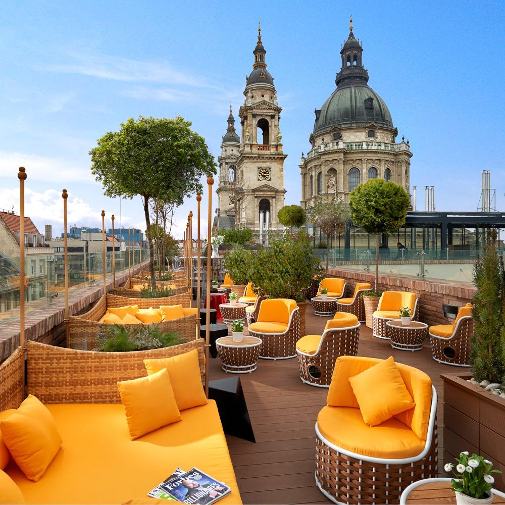 Aria Hotel Budapest Dachterasse