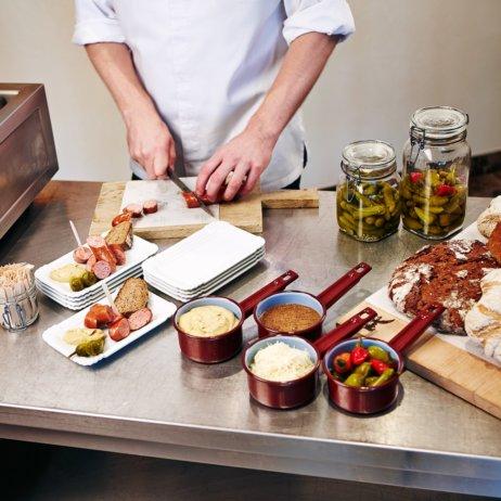 Die Küche Palais Hansen Kempinski Wien Zubereitung
