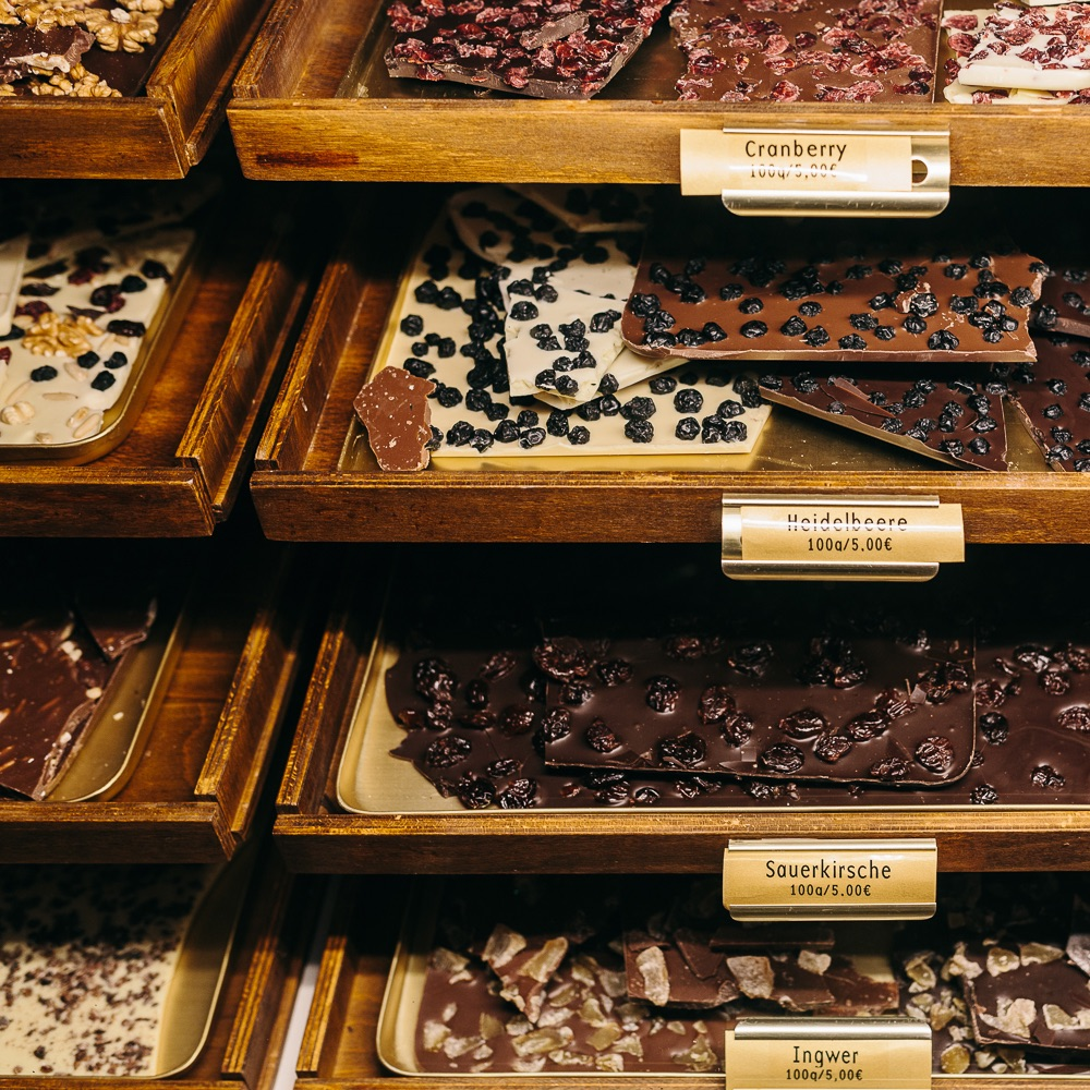 Winterfeldt Schokoladen Berlin Schöneberg Sorten