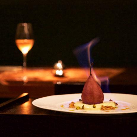 Anna Sgroi italienisches Restaurant Hamburg flambierte Birne