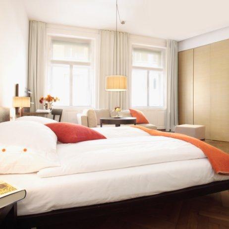 Hollmann Beletage Hotel Wien Doppelbett