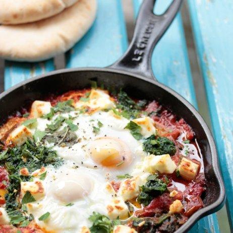 Nana Meze Restaurant München Gemüsepfanne mit Ei