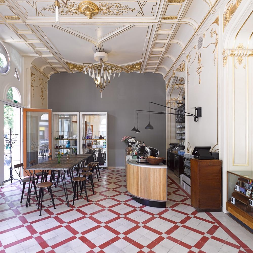 Supersense Store Wien Cafe mit Tresen