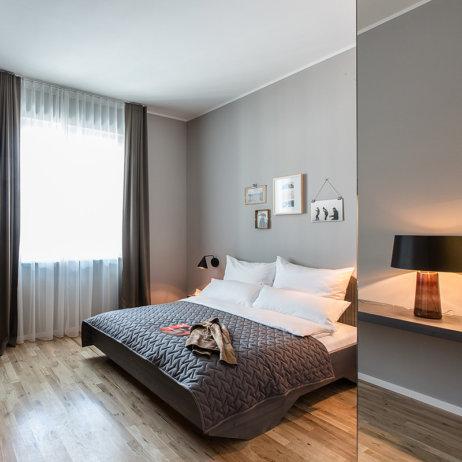 Bold Hotel München Giesing Zimmer mit Doppelbett